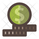 Dollar Stack Coin Icon