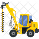Pile Drilling Icon