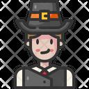 Pilgrim Thanksgiving Costume Icon