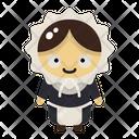 Pilgrim Woman Icon
