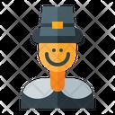 Pilgrim Man Icon