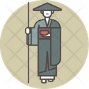 Pilgrim monk Icon