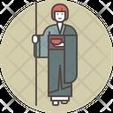 Pilgrim monk copia Icon