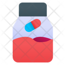 Pill Bottle Medicine Jar Medical Treatment Icon
