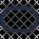 Shape Pill Horizontal Icon