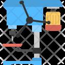 Pillar Drill Machine Icon