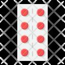 Pills Strip Pharmacy Icon