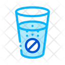 Pills Glass Water Icon