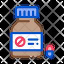 Dead Pill Bottle Icon
