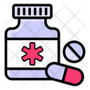 Pills Jar Medicine Bottle Drugs Icon