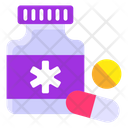 Pills Jar Medicine Bottle Drugs Icon