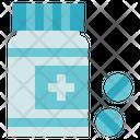 Chemistry Pills Bottle Medicine Icon
