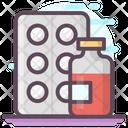 Pills Strip Capsules Drugs Icon