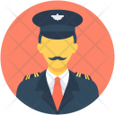 Pilot Aircrew Airline Icon