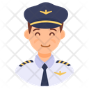 Pilot Aviator Captain Icon