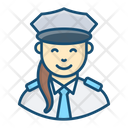 Pilot Woman Aviator Airwoman Icon
