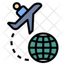 Abroad Airplane Cooperative Icon