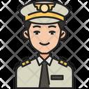 Pilot Man Captain Icon