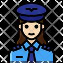 Pilot Aviator Captain Woman Occupation Icon