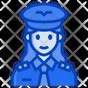 Pilot-aviator-captain-woman-occupation Icon