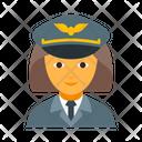 Pilot female Icon