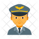 Aviation Aviator Cap Icon