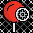 Pin Process Map Icon
