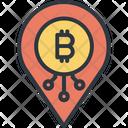Bitcoin Pin Location Icon