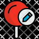 Pin Write Map Icon