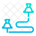 Path Route Map Icon