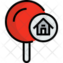 Pin Home Map Icon