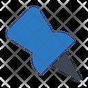 Pin Attach Thumbtack Icon