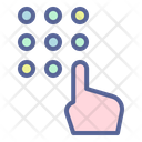 Secuirty Passcode Protection Icon
