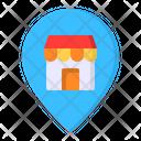 Pin Store Shop Icon