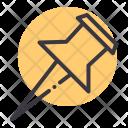 Pin Pushpin Mark Icon