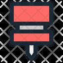 Push Pin Reminder Icon