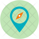 Pin Marker Compass Icon
