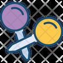 Pin Pointer Needle Icon