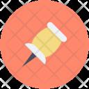 Pin Push Thumb Icon