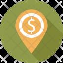 Pin Dollar Place Icon