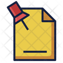 Pin File Document Icon