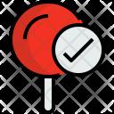Pin Check Map Icon
