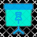 Pin Push Pin Blackboard Icon