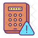 Pin code Keypad Warning Icon