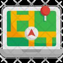 Pin Map Laptop Navigation Icon