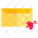 Pin Draf Mail Icon