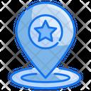 Coordinate Location Pin Icon