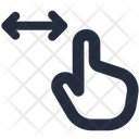 Gesture Pinch Horizontal Icon