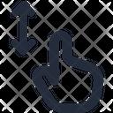 Gesture Pinch Vertical Icon