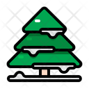 Pine Tree Winter Christmas Icon